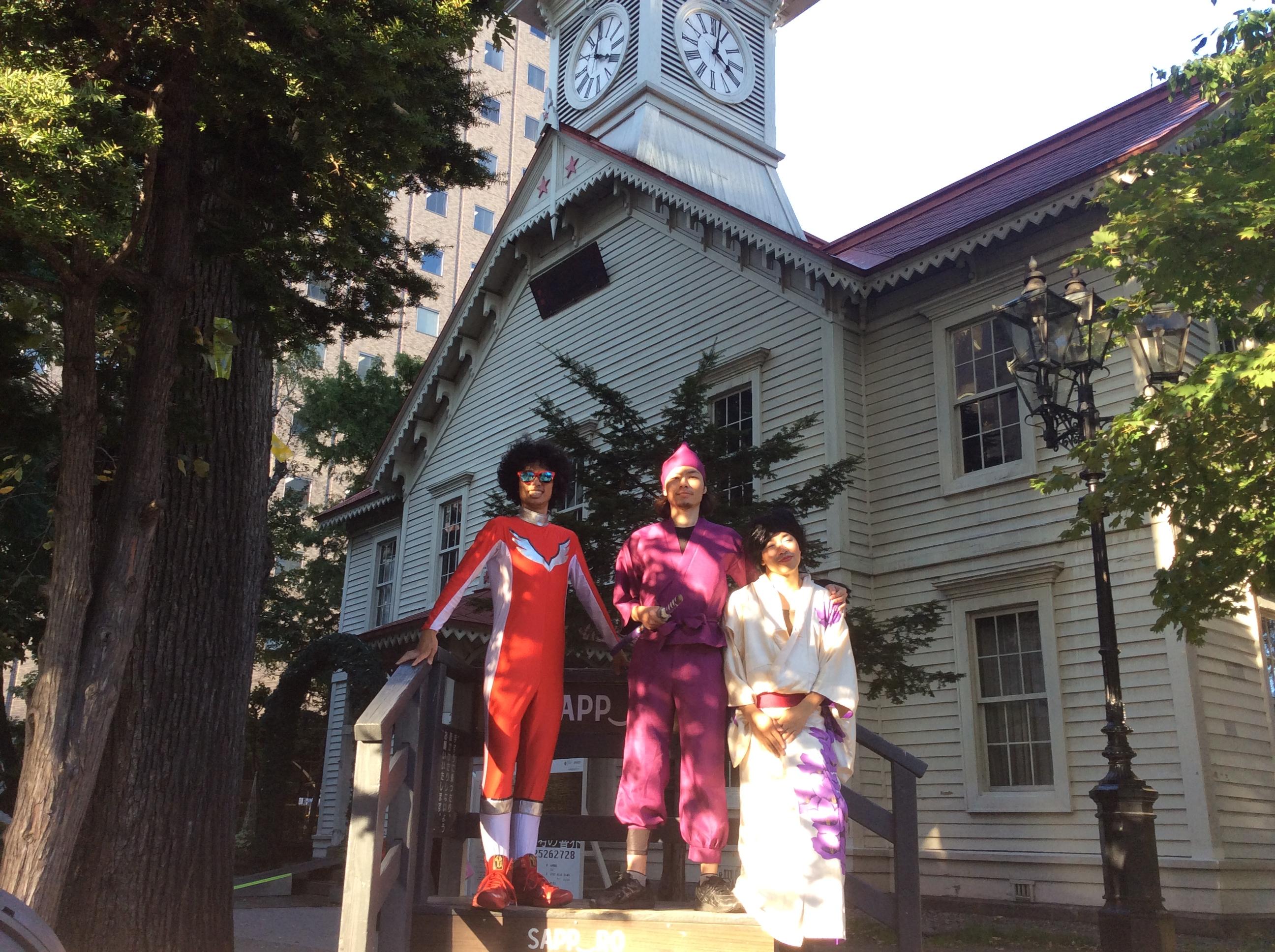 時計台で、記念撮影(in 札幌縦断LIVE)